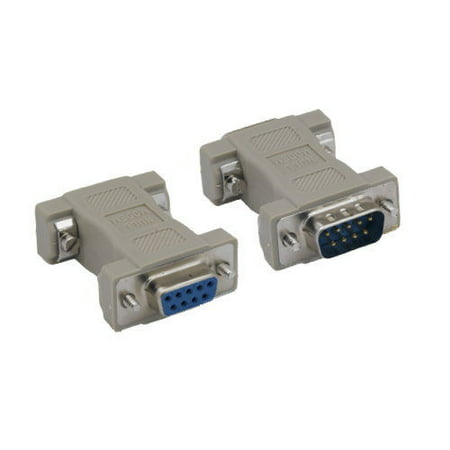 Kentek DB9 9 Pin Male to Female M/F Serial/AT Null Modem Adapter Gender Changer Coupler RS-232 Crossover Molded DTE DCE Data (Female Smart Serial Dce Router)