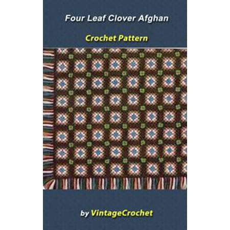 Four Leaf Clover Afghan VintageCrochet Pattern - eBook - Halloween Four Leaf Clover