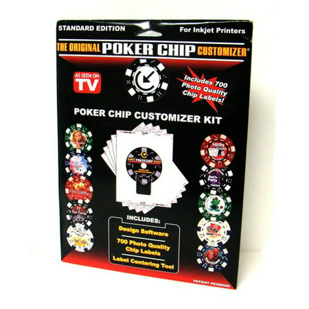 Customized Poker Chip Designer Kit. Includes 700 Labels, Software and Placement Tool, 700 Photo Quality Chip Labels By FunStick Products