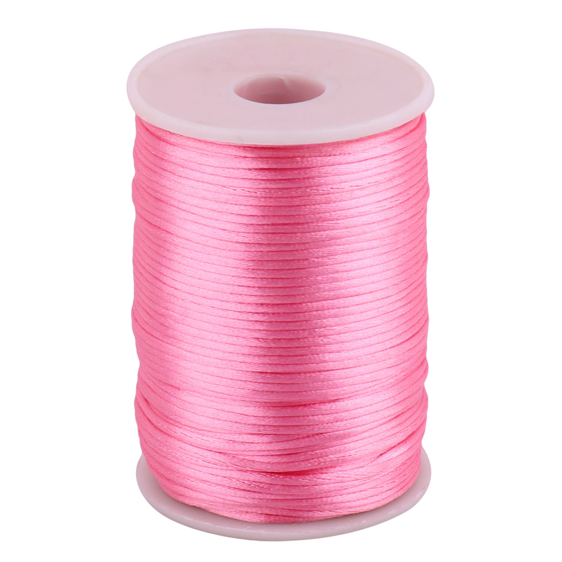 Nylon Chinese Knot Necklace Crafts DIY Braided Cord Pink 2.5mm Dia 109 Yards