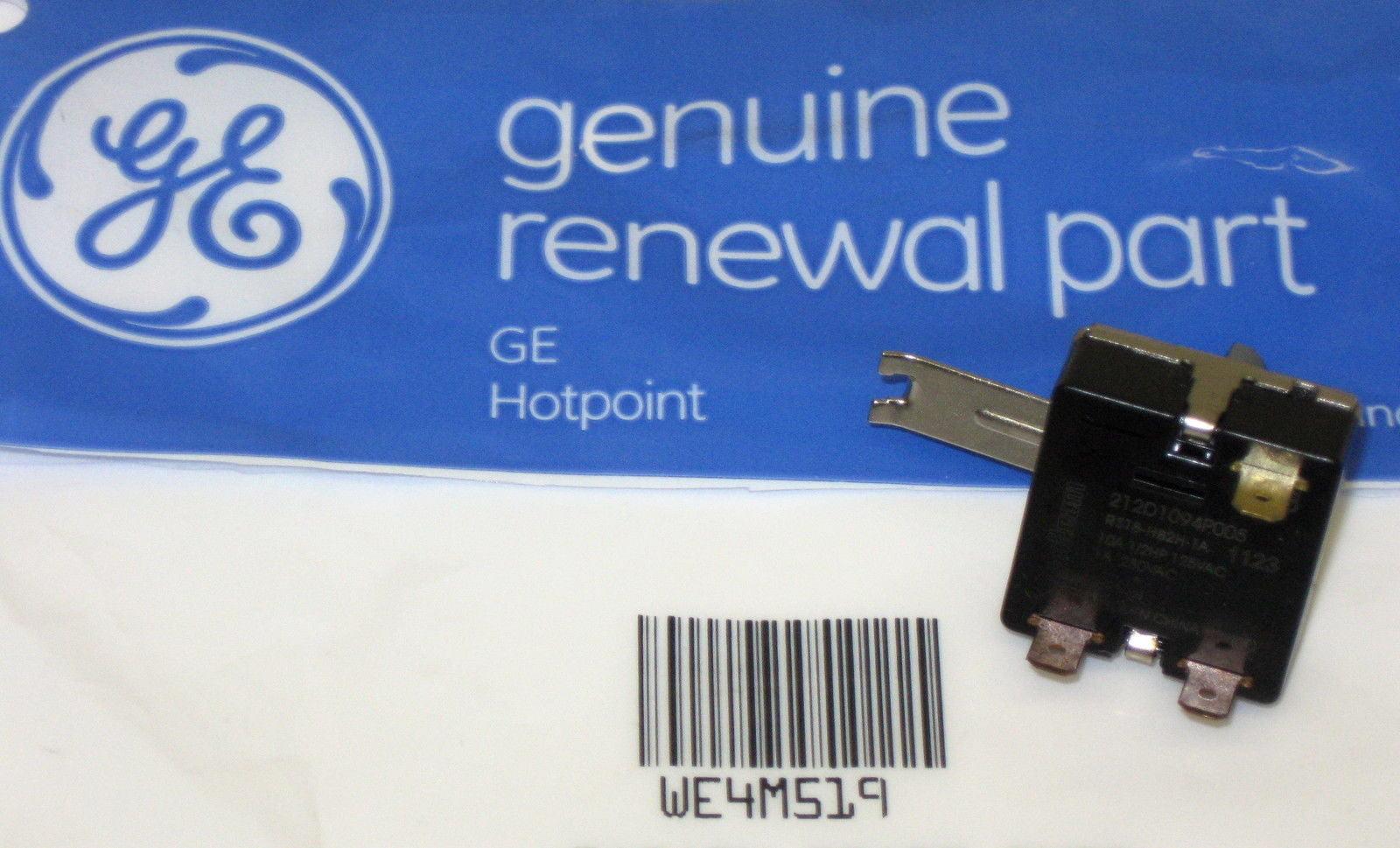 WE4M519 Genuine GE Dryer Start Switch OEM replaces WE4M326 WE4M402