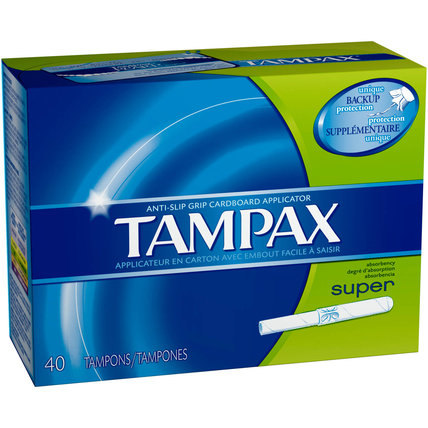 Tampax Anti-Slip Grip Cardboard Applicator Super Absorbency Tampons, (Choose your Count)