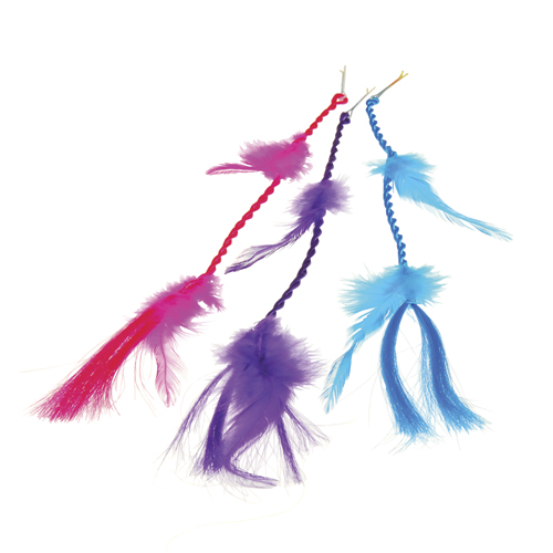 NEON FEATHER HAIR CLIPS, SOLD BY 5 DOZENS