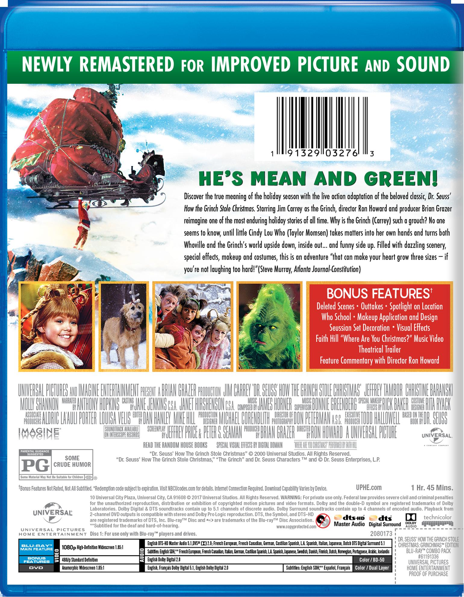 dr seuss how the grinch stole christmas grinchmas edition blu ray dvd digital hd walmartcom - How The Grinch Stole Christmas Blu Ray