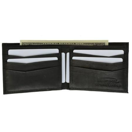 Mens Simple Classic Genuine Leather Bifold Wallet 58 CF (C) Burgundy
