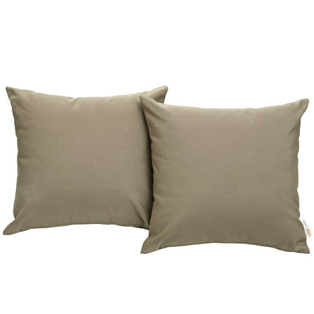 Modway Convene Outdoor Patio 2 Piece Pillow Set, Multiple Colors ()