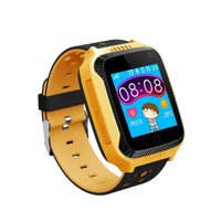 "Kids Smart Watch Phone for Children Girls Boys 1.44"" TFT Touch Screen GPS Locator Tracker Built-in Camera Flashlight Smartwatch with SIM Card Slot Remote Voice Monitoring Calls SOS Alarm"