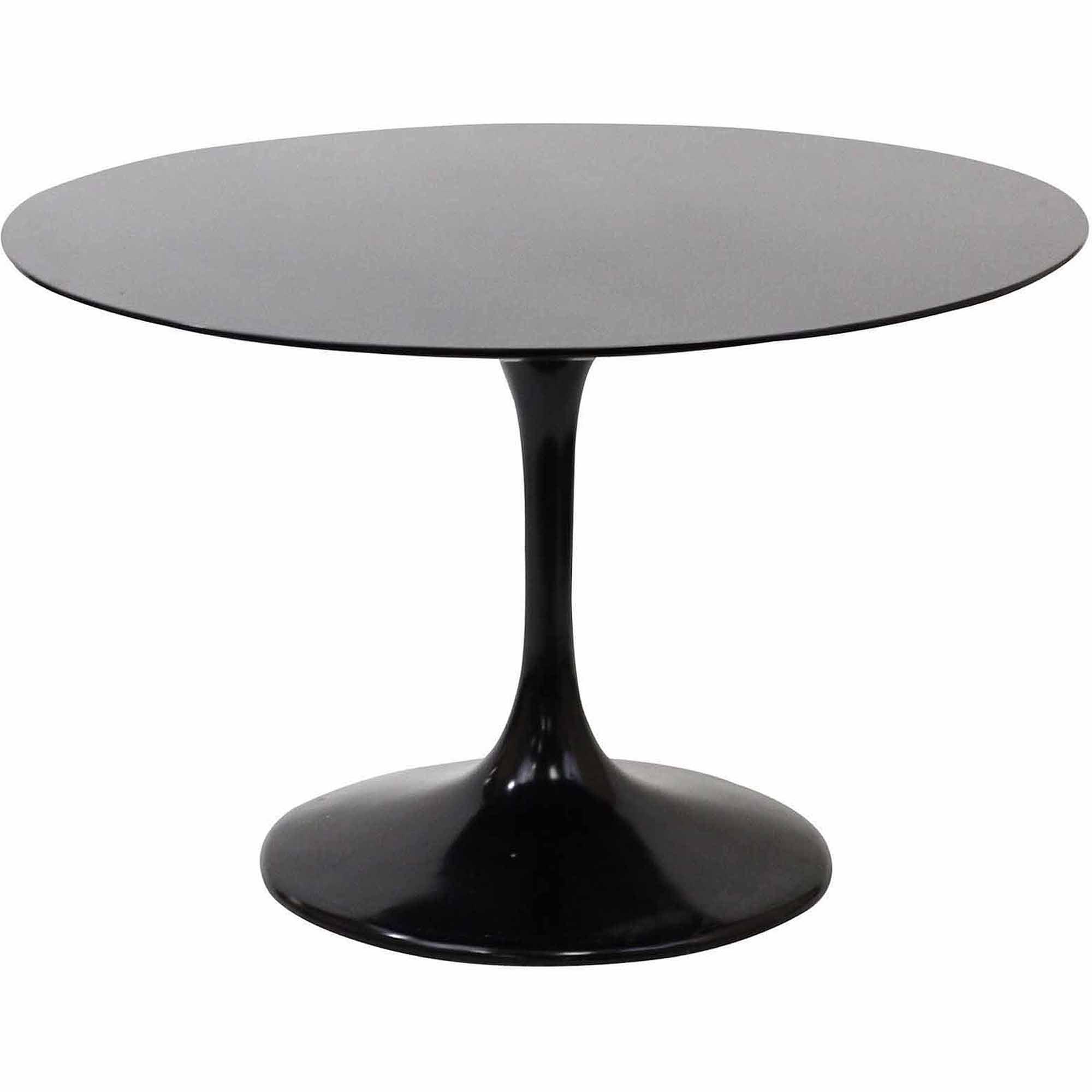 Black outdoor dining table - Modway Lippa 48 Fiberglass Dining Table Multiple Colors Walmart Com