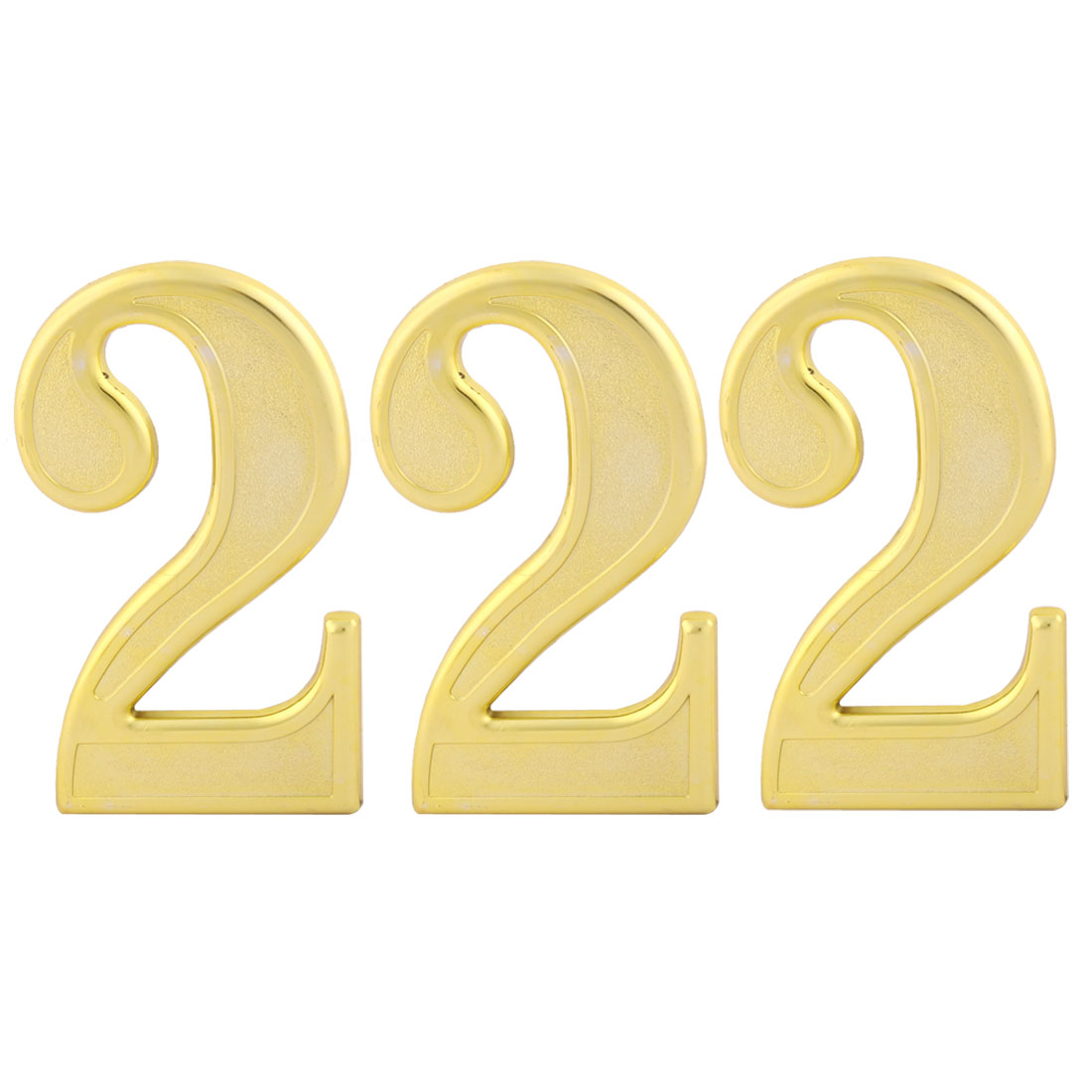 Unique Bargains Address Street Plastic 2 Shaped Plate Number Self Adhesive Stick Sign Label 3pcs