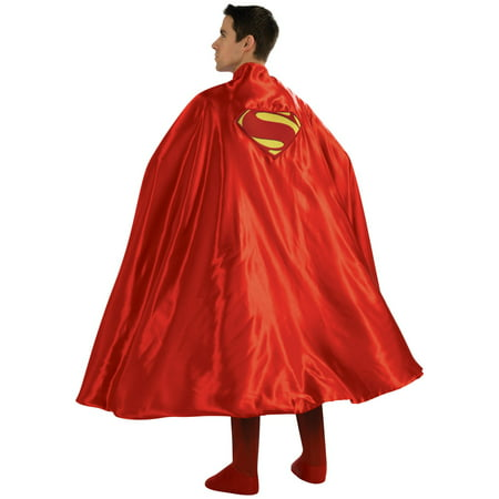 Rubie's Superman Deluxe Cape Embroidered Logo Adult