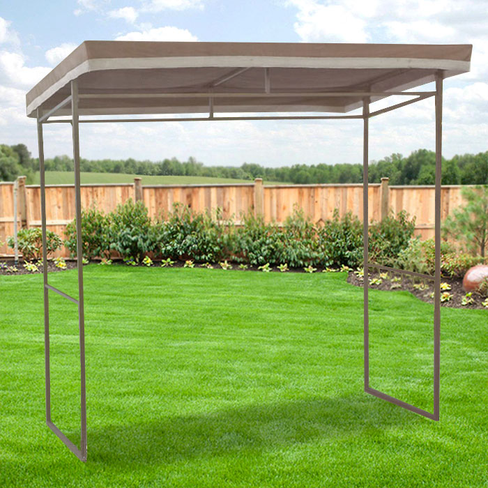Garden Winds Replacement Canopy Top for Walmart Flat Roof Grill Gazebo - Riplock 350