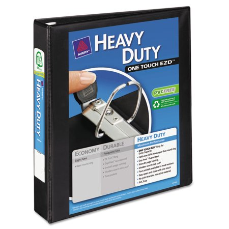 Avery Heavy Duty View Binder W Locking 1 Touch Ezd Rings  1 1 2  Cap  Black