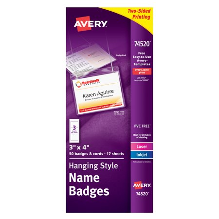 Avery Hanging Style Name Badges, 3