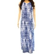 Karen Kane NEW Blue White Tie Dye Women's Size Small S Maxi Dress