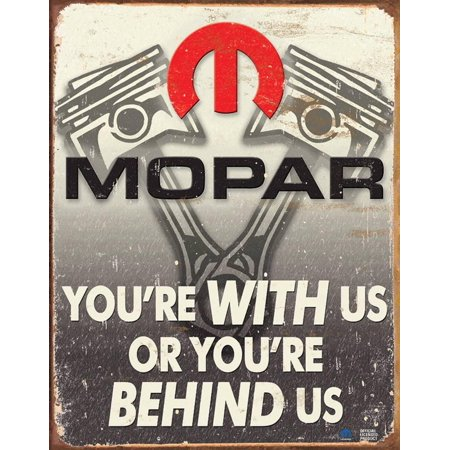 Mopar - Behind Us Tin Sign - 12.5x16 (Mopar Tin Sign)