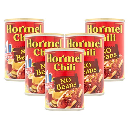 - (5 Pack) Hormel Chili No Beans, 15 Ounce
