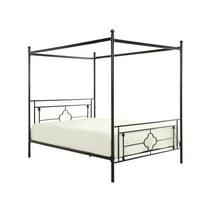 Hosta Canopy Metal Platform Bed, Queen size