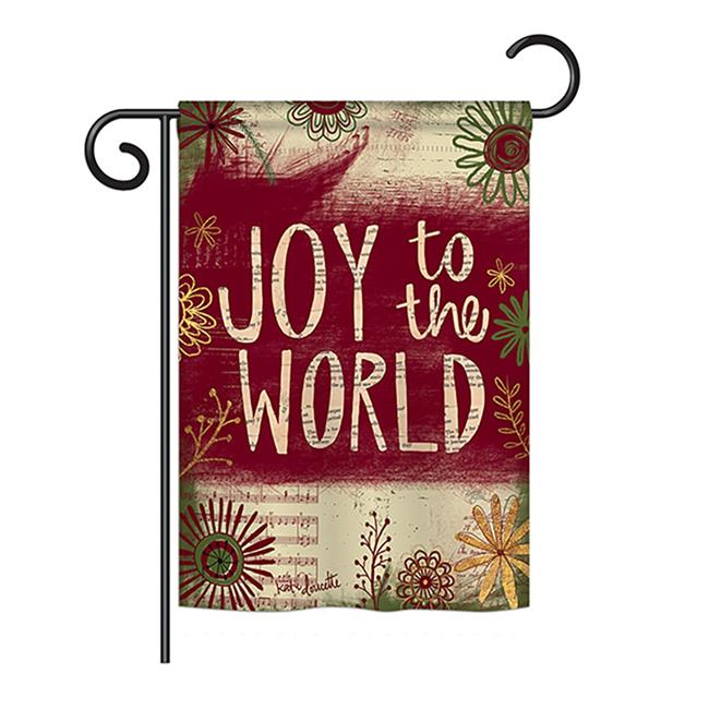 Breeze Decor BD-WT-G-114183-IP-BO-DS02-US 13 x 18.5 in. Seasonal Winter Wonderland Impressions Decorative Vertical Garden Flag - Joy to the World Winter - image 1 of 1
