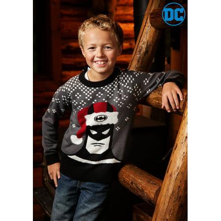 Ugly Christmas Sweater Kids.Batman Holiday Hat Kids Ugly Christmas Sweater