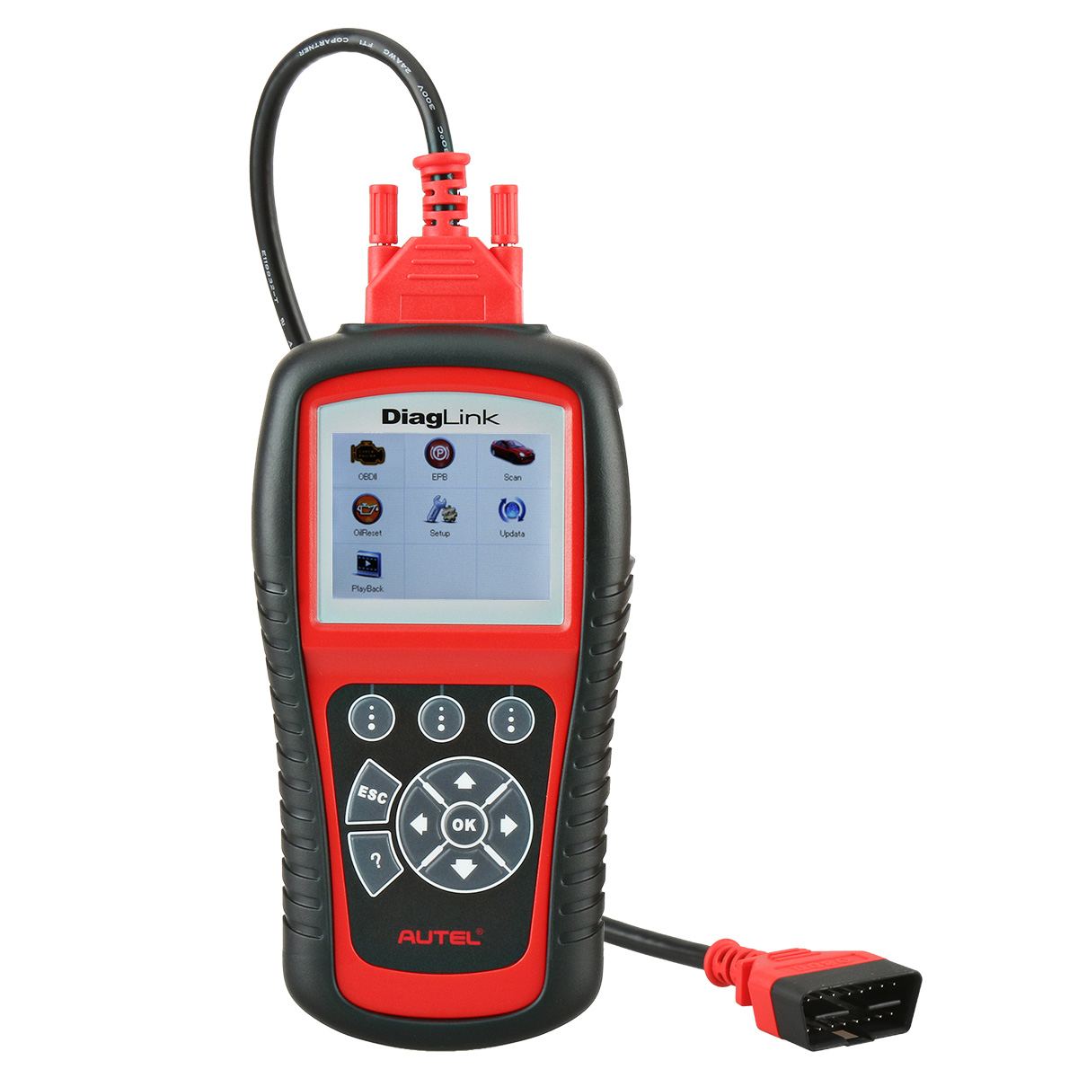 Autel Diaglink OBDII/EOBD CAN Multi-System Scanner Tool with Auto Scan OLS, EPB and ABS Maintenance(Diagnose Single Brand of All Models)