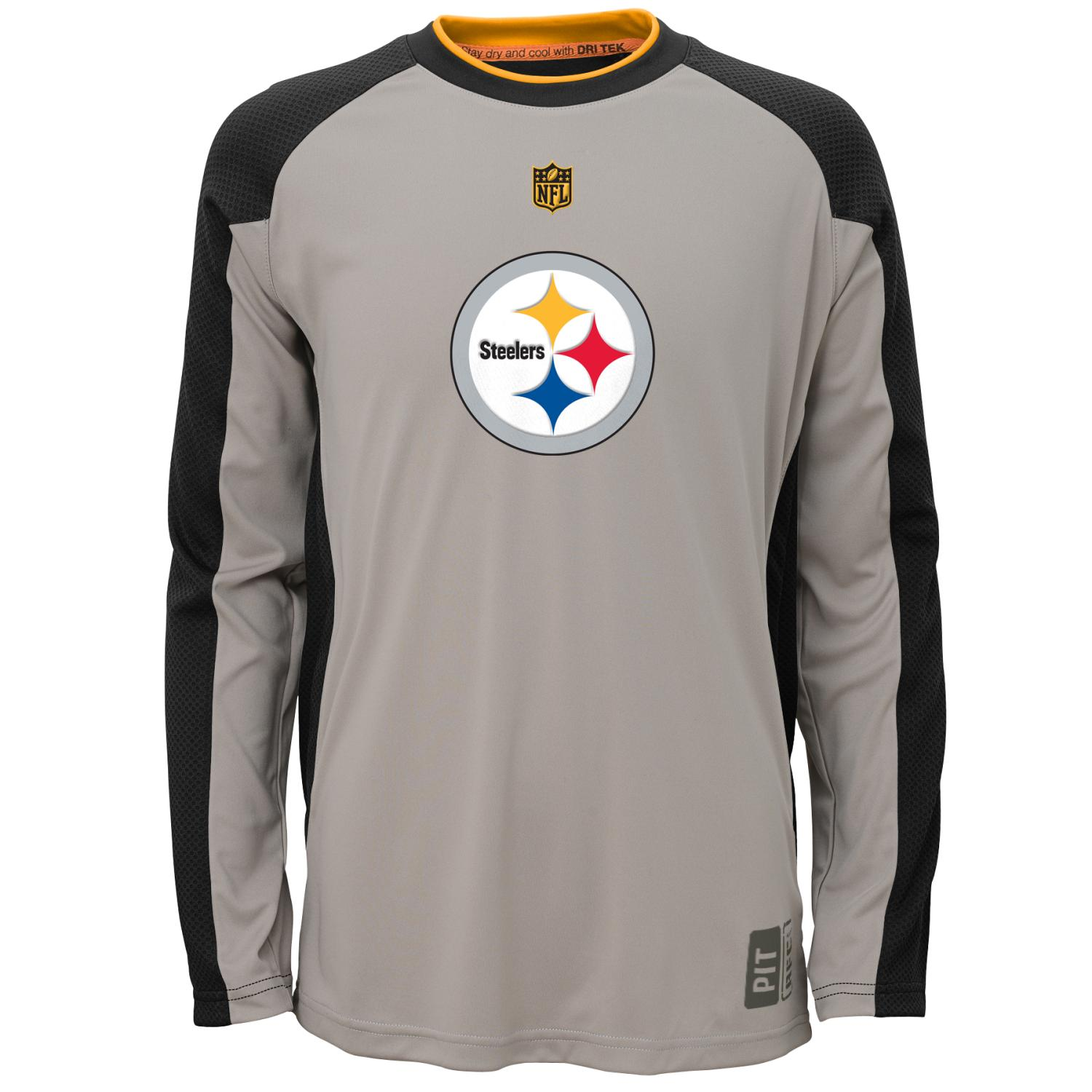 "Pittsburgh Steelers Youth NFL ""Covert"" Performance Long Sleeve T-Shirt"