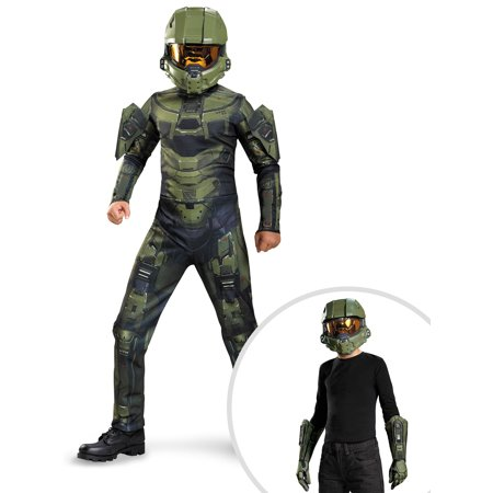 Boys Halo Master Chief Classic Costume and Halo Master Chief Kit for Children - Halo Master Chief Child Costume
