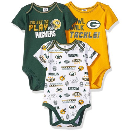 Nfl Green Bay Packers Baby Short Sleeve Bodysuits 3pk Walmart Com