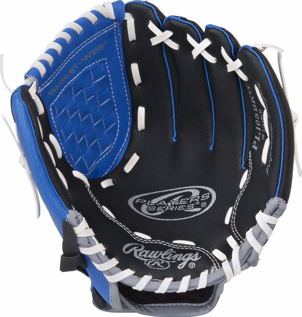 "Rawlings Players Series Gloves - 10.5"" - Left Hand - Blue/Black/Grey"