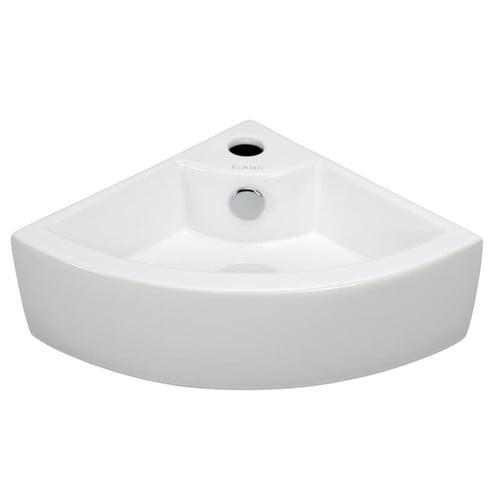 Bathroom Sinks Walmart elanti porcelain18'' corner bathroom sink - walmart