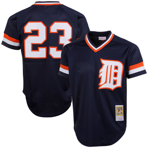 Kirk Gibson Detroit Tigers Mitchell & Ness 1984 Authentic Cooperstown Collection Mesh Batting Practice Jersey - Navy