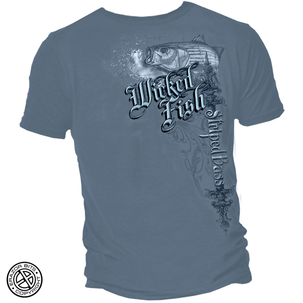 Cotton Striped Bass T-Shirt