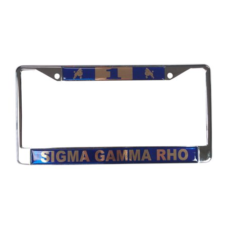 Sigma Gamma Rho  1 Line Number Silver License Plate Frame