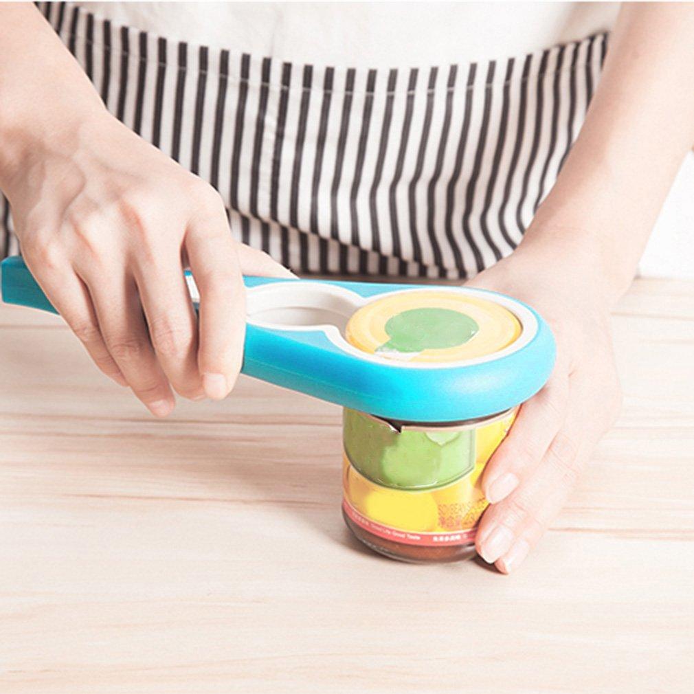 4 in 1 Multifunction Easy Twist Jar Opener Anti-skidding Household Can Opener Save effort Practical Kitchen... by
