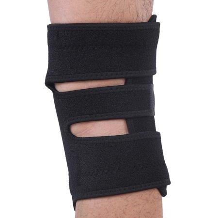 LAFGUR Useful Adjustable Strap Elastic Patella Sports Support Brace, Non Slip Comfortable Adjustable Knee Brace, Best Open Patella Knee Stabilizer Neoprene for Meniscus Tear, Arthritis, Men &