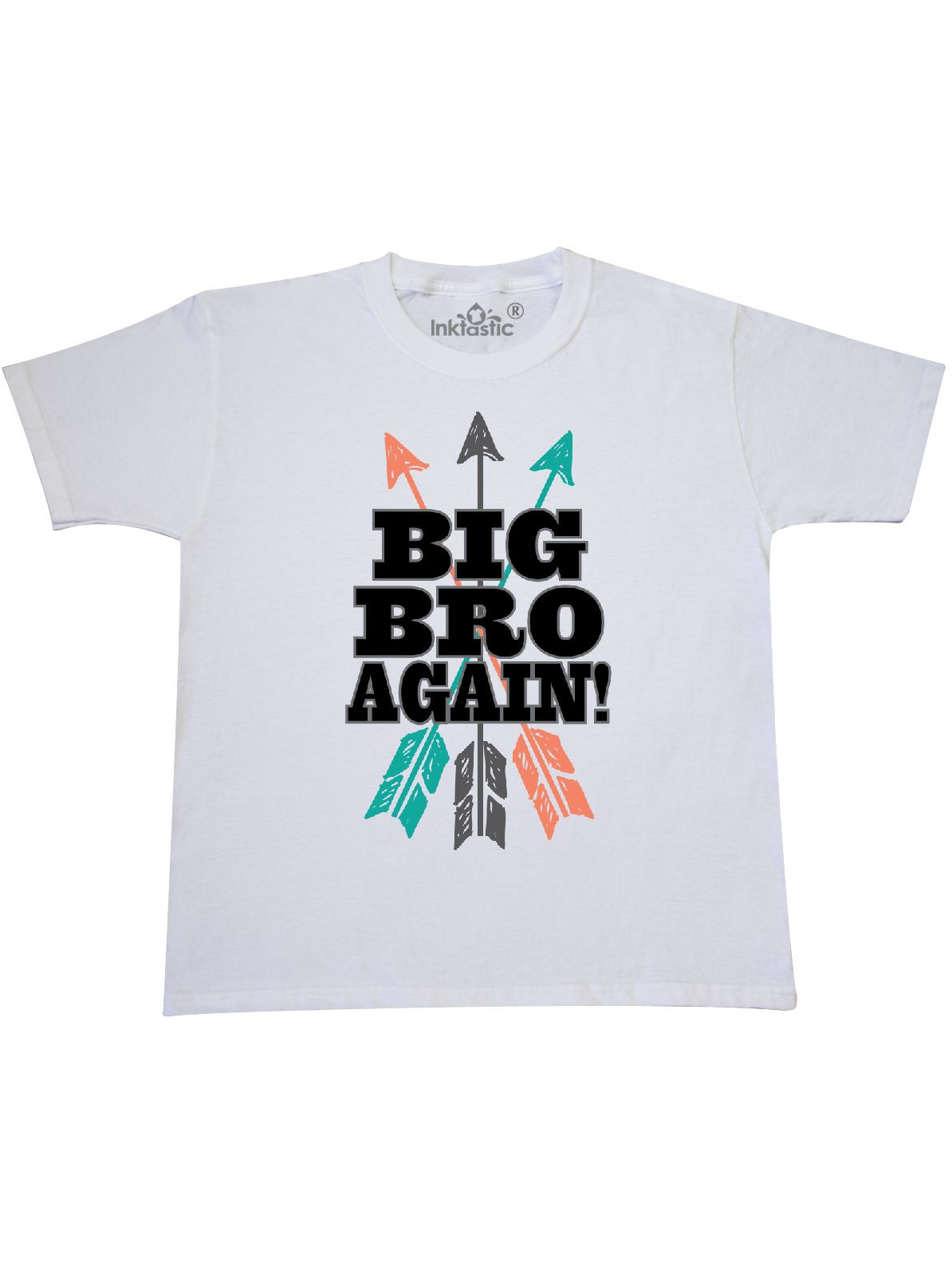 d85d0d389c1d1 INKtastic - Big Bro Again Tribal Arrow Brother Announcement Youth T ...