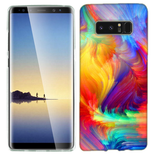 MUNDAZE Feather Paint Case Cover For Samsung Galaxy S8