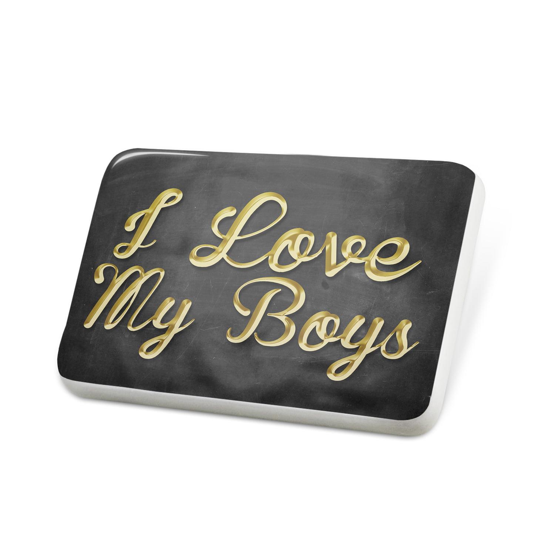 Porcelein Pin I Love My Boys Lapel Badge – NEONBLOND