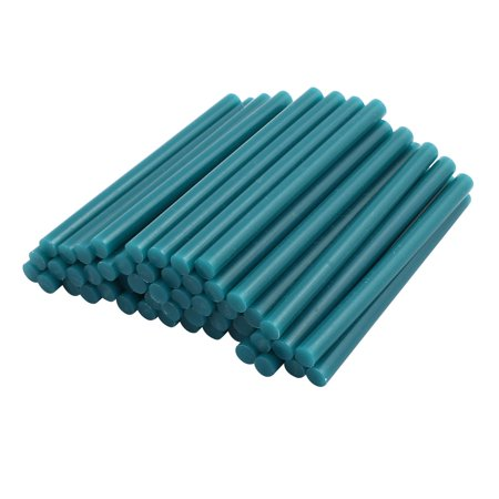 50pcs 7mmx100mm Economy Hot Melt Glue Sticks Green For Diy Small