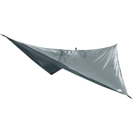 Equip Hammock Rainfly Camping with Guylines and Stakes, Gray