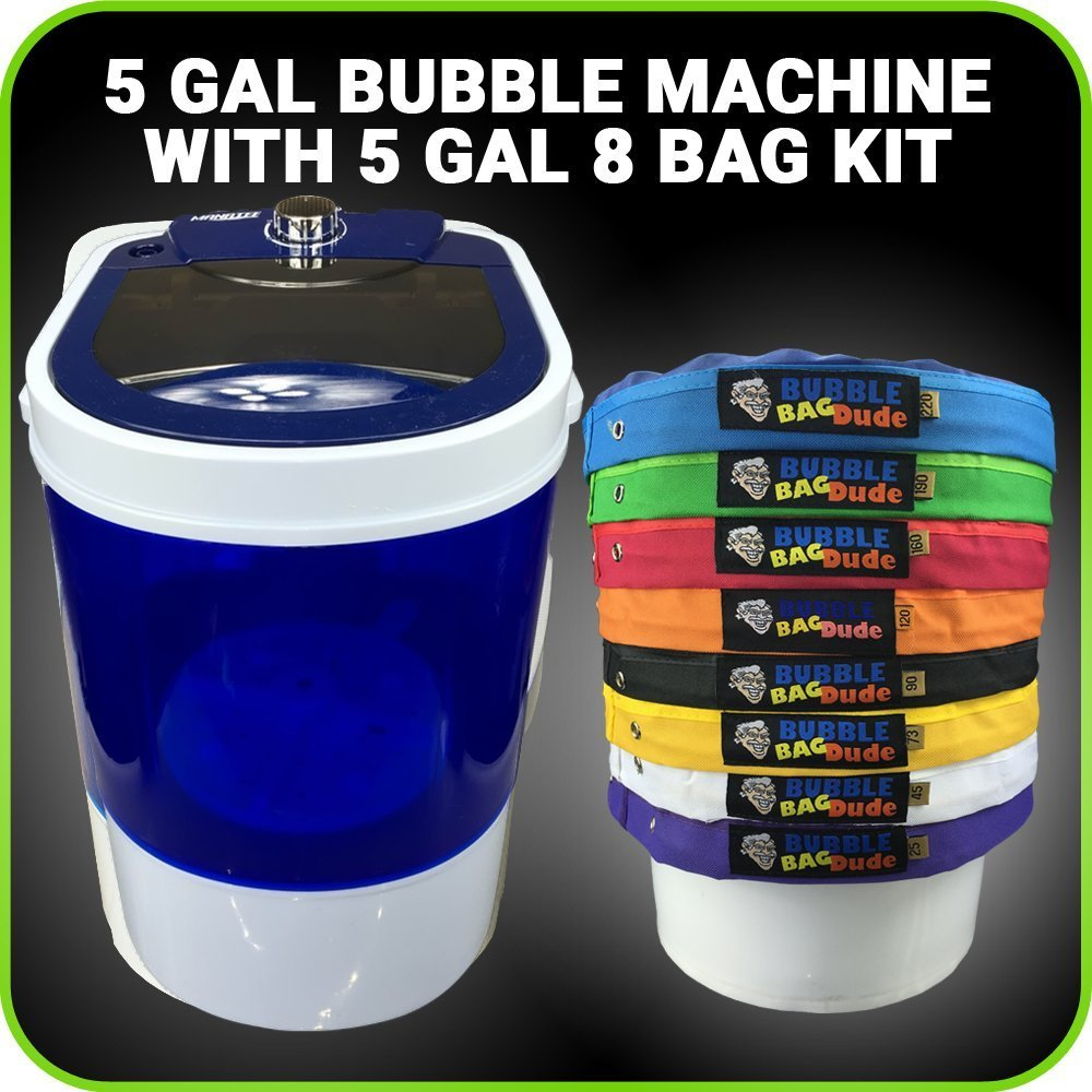 BUBBLEBAGDUDE Bubble Machine 5 Gallon 8 Bag Ice Bubble Ba...