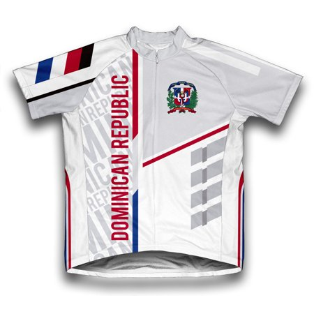 Dominican Republic ScudoPro Short Sleeve Cycling Jersey  for Men - Size XS Air Force Cycling Jersey