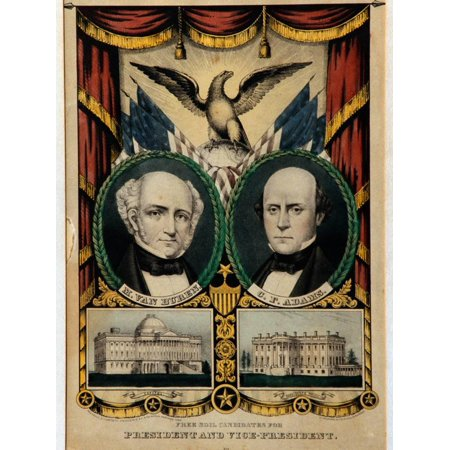 van buren campaign lithograph print by david j frent