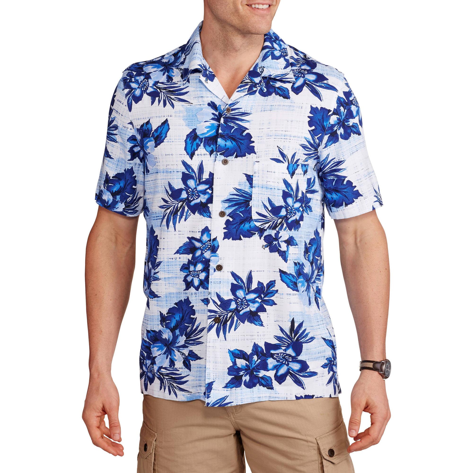 George Men's Rayon Print Hawaiian Shirt