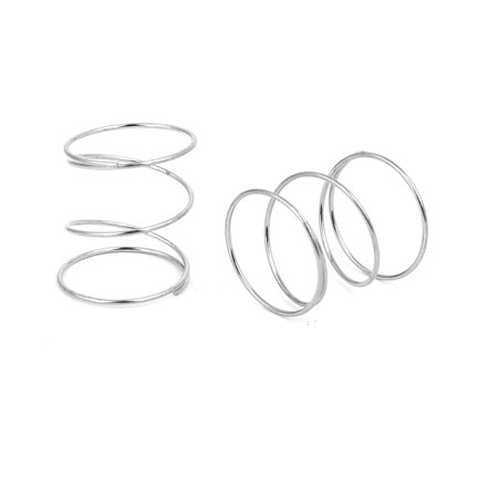 0 4mmx9mmx10mm 304 Stainless Steel Compression Springs Silver Tone 20p