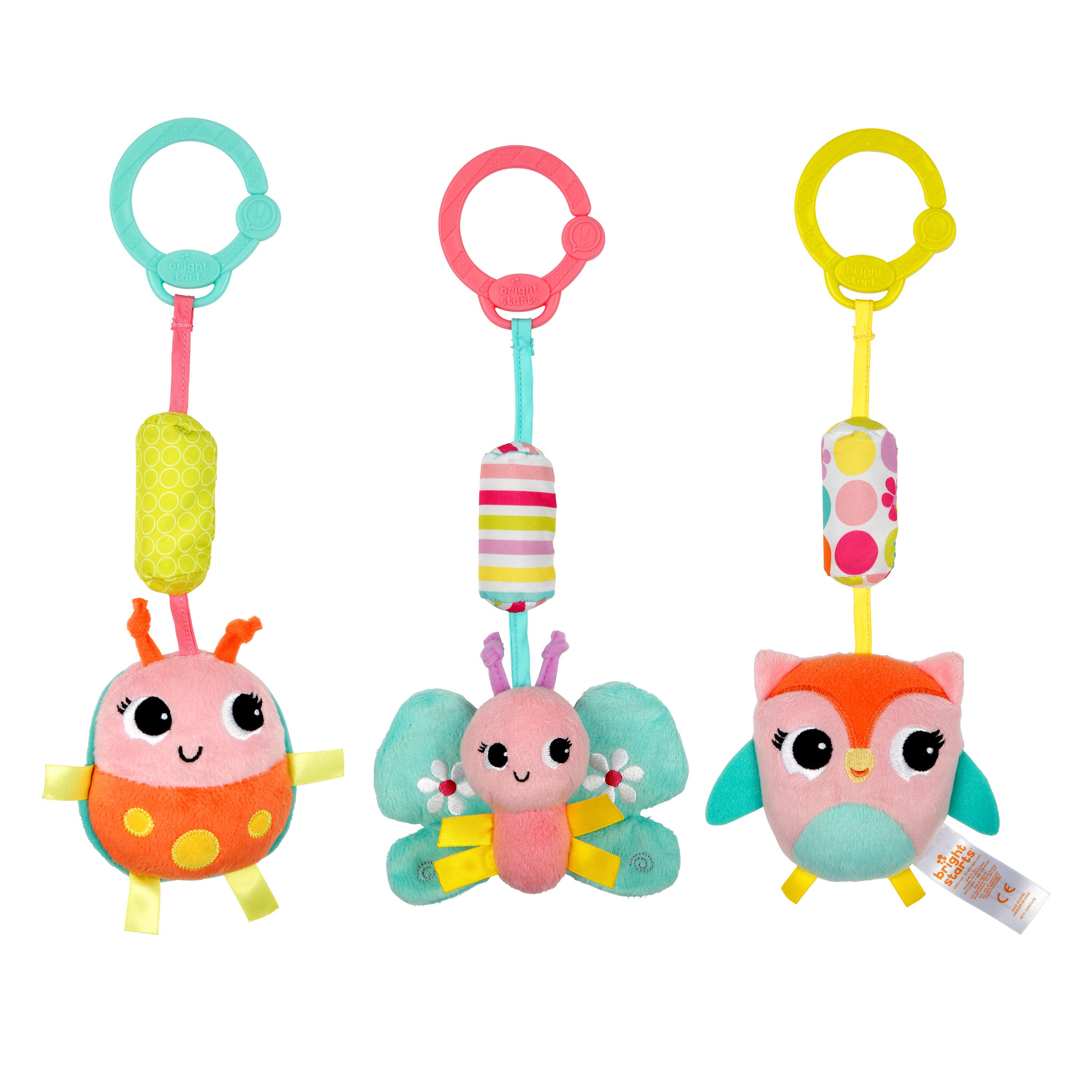 Bright Starts Chime Along Friends Take Along Toys by Bright Starts