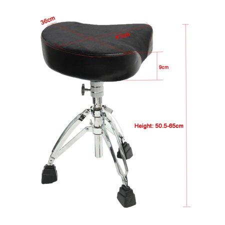 Adjustable Drum Throne Stool Tripod Seat Drumming Chair Stand Adjust Padded US - image 1 of 6