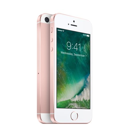 Straight Talk Apple iPhone SE 32GB Prepaid Smartphone, Rose Gold
