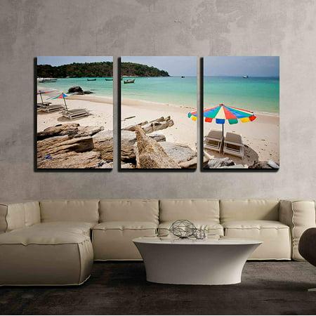 Wall26 3 Piece Canvas Wall Art Beach Time Modern