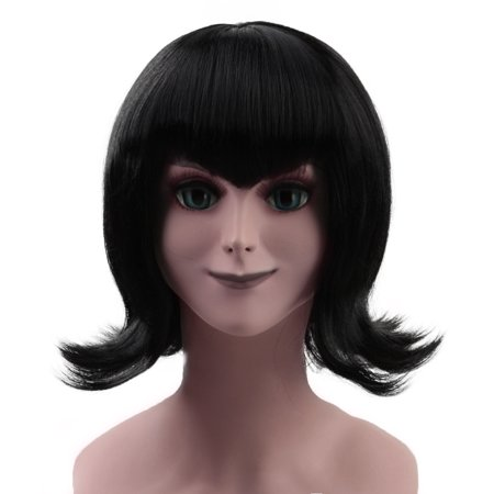 Mens Vampire Wig (Vampire Mavis Wig with V-Bangs, Black Kids)