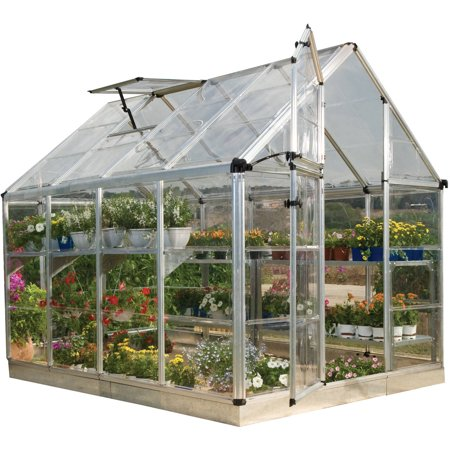 Palram Snap And Grow Greenhouse  6 X 8  Silver